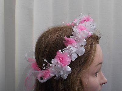 2019 Nuovo Stile Hot Rosa/bianco Perla Fiore Circlet-matrimonio Halo, Fiore Ragazza-da Valerie J-mostra Il Titolo Originale