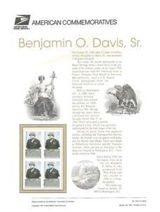 505-32c-Benjamin-O-Davis-Sr-3121-USPS-Commemorative-Stamp-Panel