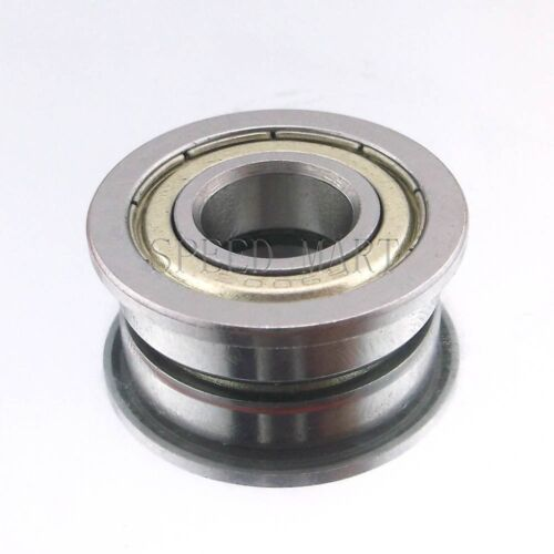 10mm*22mm*6mm 2 x F6900zz Metal Double Shielded  Flanged  Ball Bearings