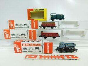 BR57-0-5-4x-Fleischmann-H0-DC-Gueterwagen-etc-DB-1469-1454-N-1485-5219-s-g-OVP