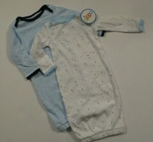 NEW-Circo-Baby-Boys-2-Piece-Lot-Newborn-Sleep-Sacks-Gowns-Pajamas-Set-One-Piece