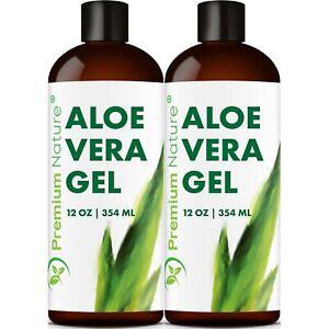 Aloe-Vera-Pure-Gel-Face-and-Body-Moisturizer-Skincare-24-OZ-2x12oz