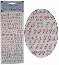 Karte Machen Sticker Bogen,Alphabet Buchstaben & Zahlen,Edelstein Verzierung Rot