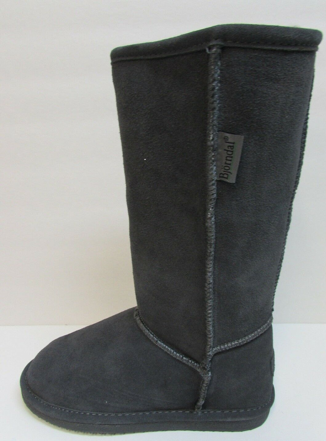 Bjorndal Size 6 Gray Leather Wool Boots New Womens Shoes