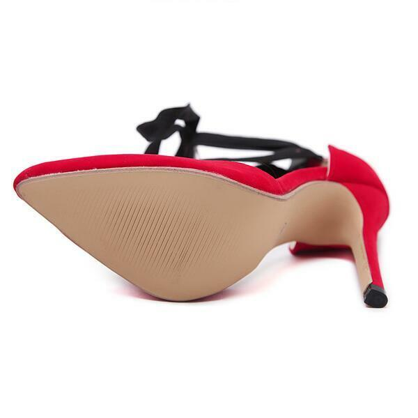 Pumps sandalen absatz 12 cm elegant elegant elegant stilett rot schwarz simil leder komfortabel   18975e