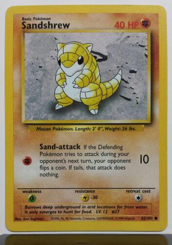 Base Pokemon Card Sandshrew 62//102 $1 Combined Shipping Unplayed NM // M