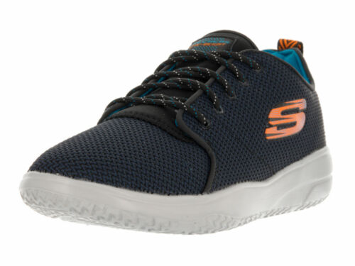 Kid/'s Skechers 97390L Navy//Black Isotope laces Casual Shoe Kids Youth Boy New