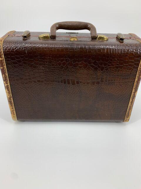Samsonite Shwayder Bros Inc Vintage Alligator Train Case Small Suitcase Luggage