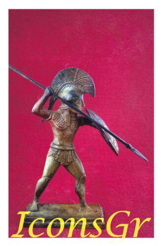Hoplite With A Spear Battle Of Marathon Bronze Ancient Museum Replica Greek