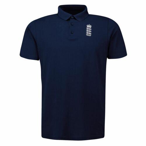 England Cricket Mens Polo Shirt Tee Top Short Sleeve Lightweight Fold Over