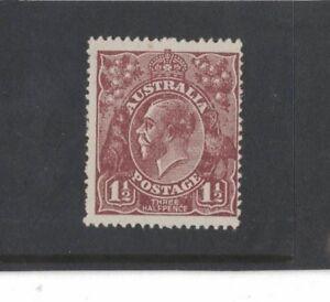 1919-Australia-1-1-2d-red-brown-SG-52-large-multi-wmk-muh-tone-spot