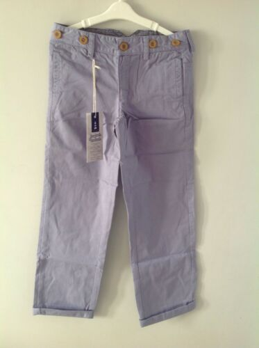 New age 7-8 mid blue//lavender Lucas Frank boys chinos