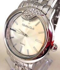 Women's Oversize Watch  MC40181 Silver Metal Band Analog Water Resistant 1ATM