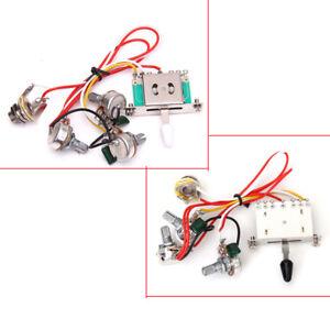 wiring harness volume tone jack 3 500k pot switch for fender strat guitar ebay. Black Bedroom Furniture Sets. Home Design Ideas