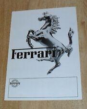 Ferrari Range Brochure 1981 - BB 512 308 GTBi GTSi Mondial 8 400 GTi UK Market