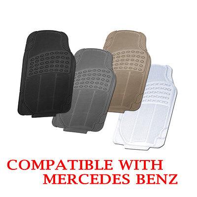 Mercedes Benz Compatible All Season Floor Mats Black Grey Beige Clear