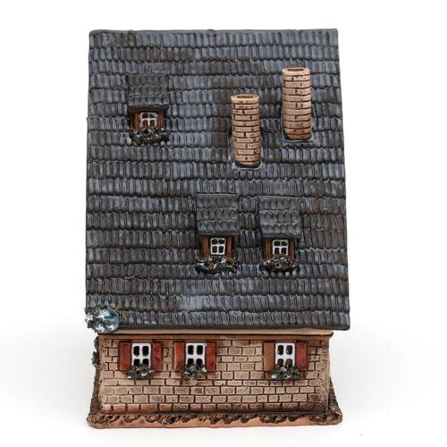 Céramique teelichthaus lichterhaus lumignons considère colombages toit pointu 16 cm 40651