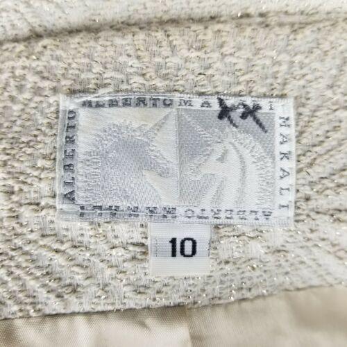 à plis Coat métallisé 10 col Alberto à Gold Ruffle Womens Makali Ivory texturé tq4Pz
