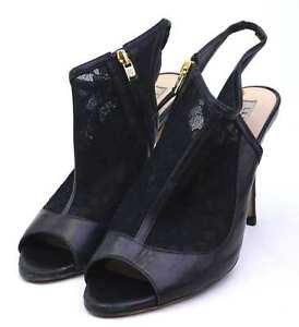 LK-Bennett-Womens-EU-Size-39-Black-Leather-Mesh-Shoes