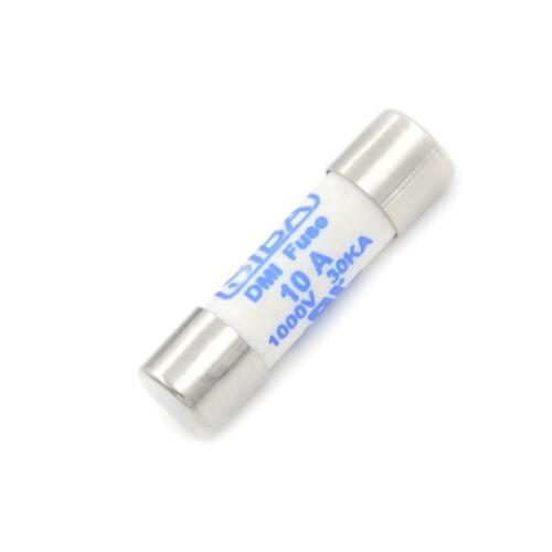 Multim/ètre 10 x 38mm 1000V 10A Cylindre Fusibles en C/éramique