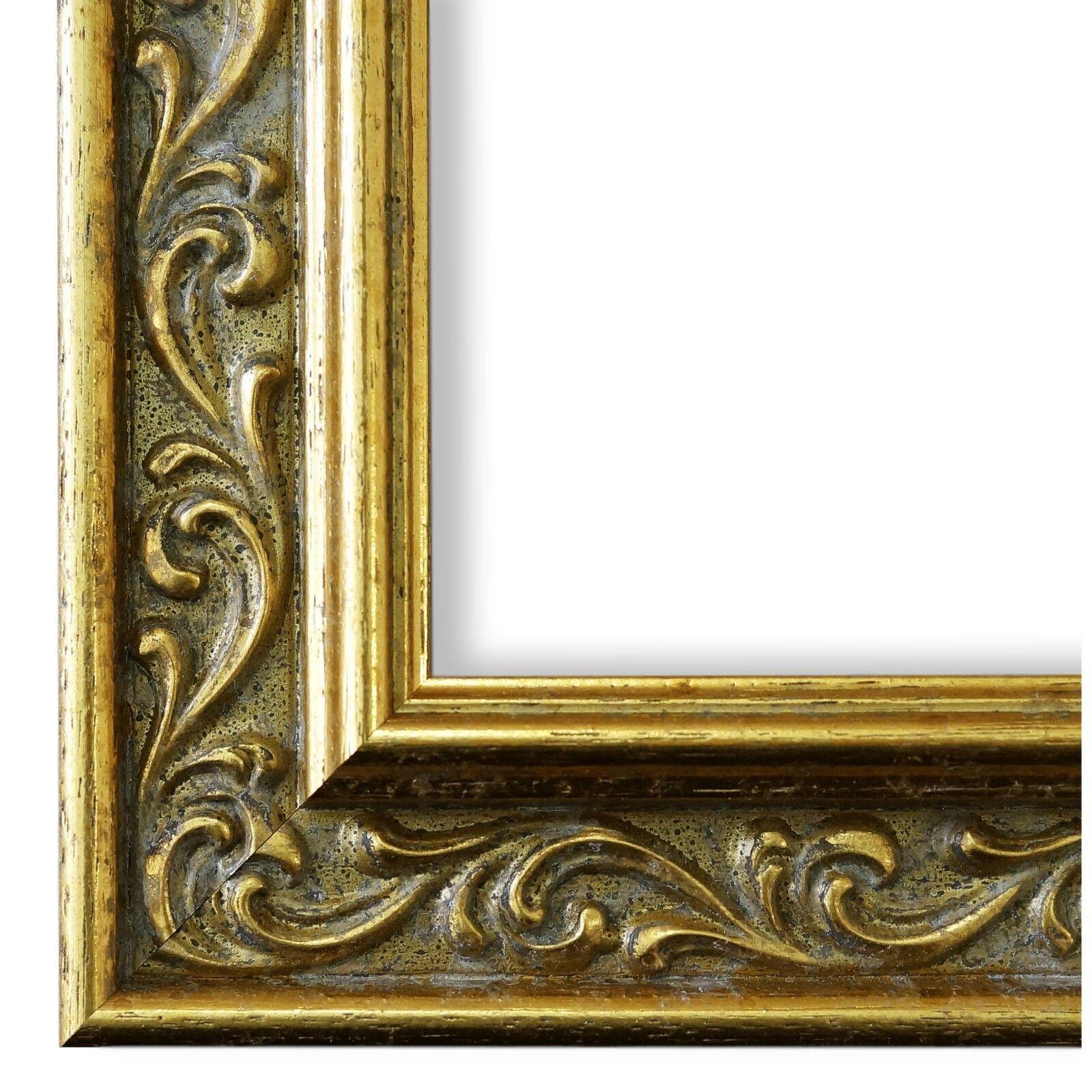 Bilderrahmen Gold Klassisch Retro Holz Verona 4,4 - NEU alle Größen