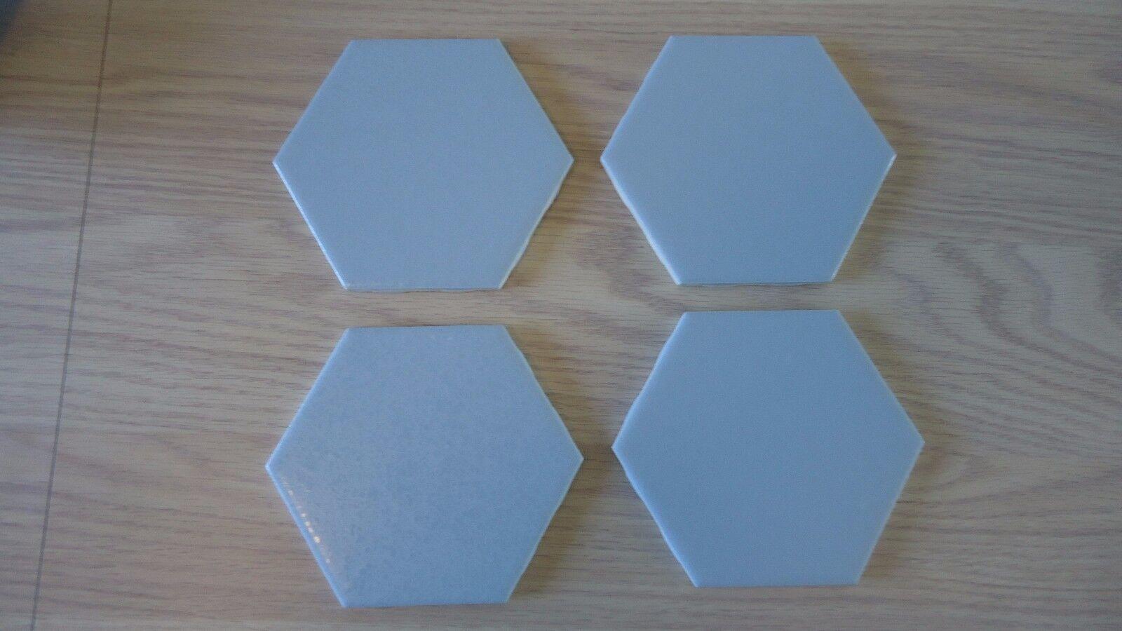 Vintage Light Blue Hexagon Ceramic Tile