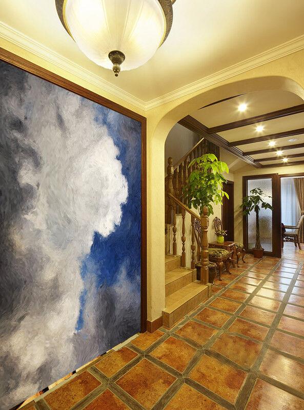 3D Himmel Weiße Wolken  974 Tapete Wandgemälde Tapete Tapeten Bild Familie DE