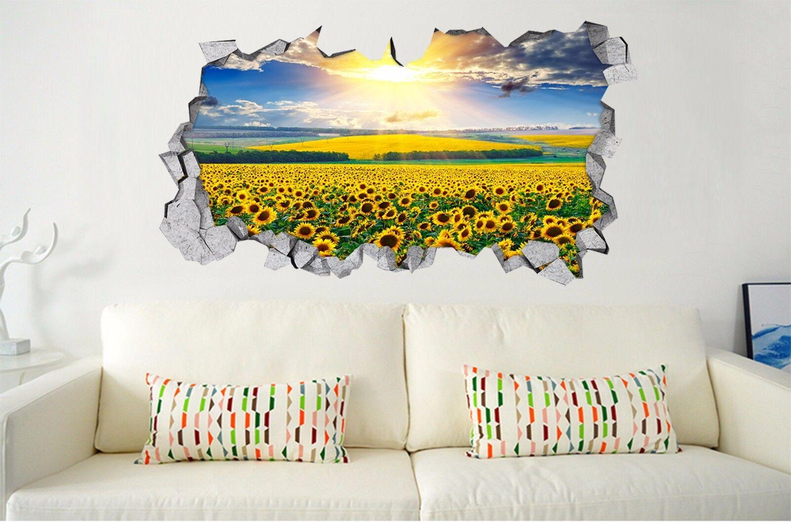 3D Sonnenblume 744 Mauer Murals Mauer Aufklebe Decal Durchbruch AJ WALLPAPER DE