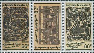 French-Polynesia-1989-Sc-527-529-SG577-579-Polynesian-Legends-set-MNH