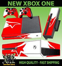 XBOX ONE MIRRORS EDGE LOGO RED WHITE FAITH CONSOLE STICKER SKIN & 2 X PAD SKIN
