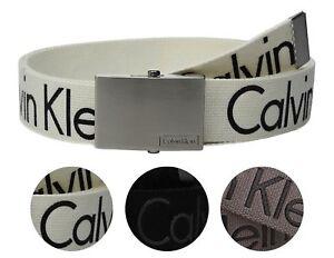 New-Calvin-Klein-Men-039-s-Premium-CK-Logo-Cotton-Adjustable-38mm-Canvas-Belt-73545