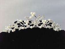 Pretty Pearl and  Rhinestone Wedding  Hair Band Tiara Bridal Prom