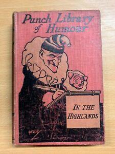 Antique-034-Mr-Punch-en-The-Highlands-034-Library-de-Humour-Illustree-Livre-Cartonne