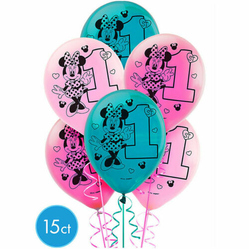 Baby Minnie Mouse 1st First Birthday Balloons Party Supplies Favor Decorations