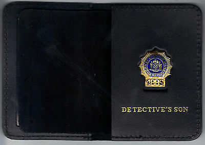 New York//New Jersey Police-Style-Inspector Snap Wallet Badge Not Included