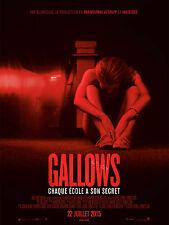 Affiche 120x160cm GALLOWS 2015 Cassidy Gifford, Pfeifer Brown, Ryan Shoos EC
