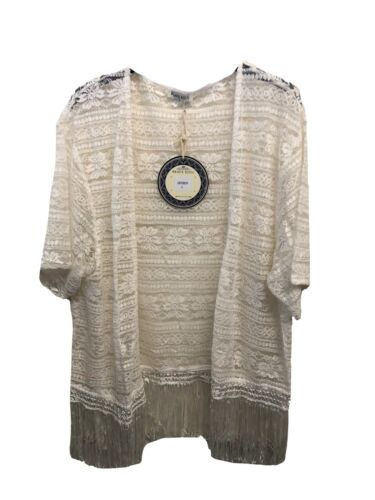 Brave Soul White Lace Beach Cover Up Size XS