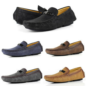 Mens-NEW-Smart-Slip-On-Designer-Loafers-Driving-Shoes-Casual-Moccasin-UK-Size