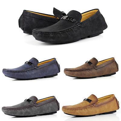 mens smart slip on designer loafers driving new shoes