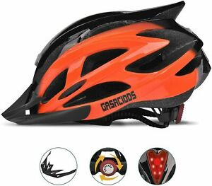 Bicycle Helmet Safety Cycling MTB Adult Mountain Road Bike LED Tail Light Safety