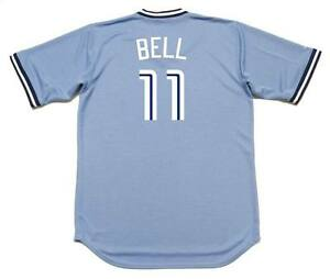 sale retailer 7e70a d4f01 Details about GEORGE BELL Toronto Blue Jays 1987 Majestic Cooperstown Away  Baseball Jersey