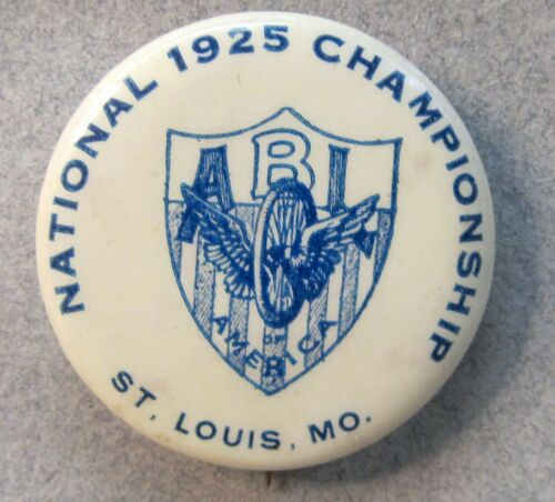 1925 ABLA NATIONAL CHAMPIONSHIP St. Louis MO. pinback button Bicycle cycling