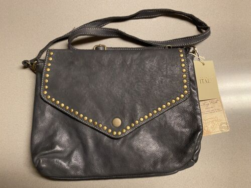 Details about  /Costanza Rota Womens Black Genuine Leather Handbag Crossbody Bag Made In Italy