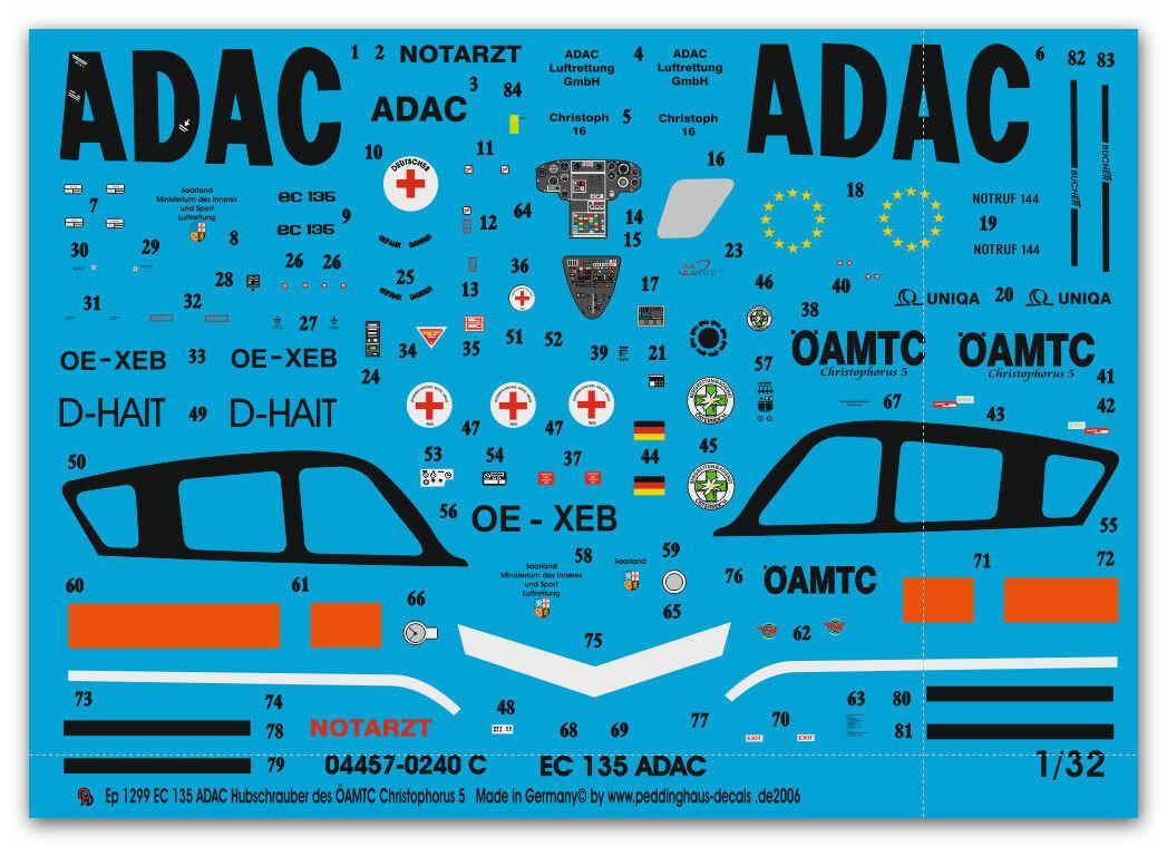 Peddinghaus 1 32 1299 EC 135 ADAC y oeamtc oeamtc oeamtc helicóptero del Rescate cfd575