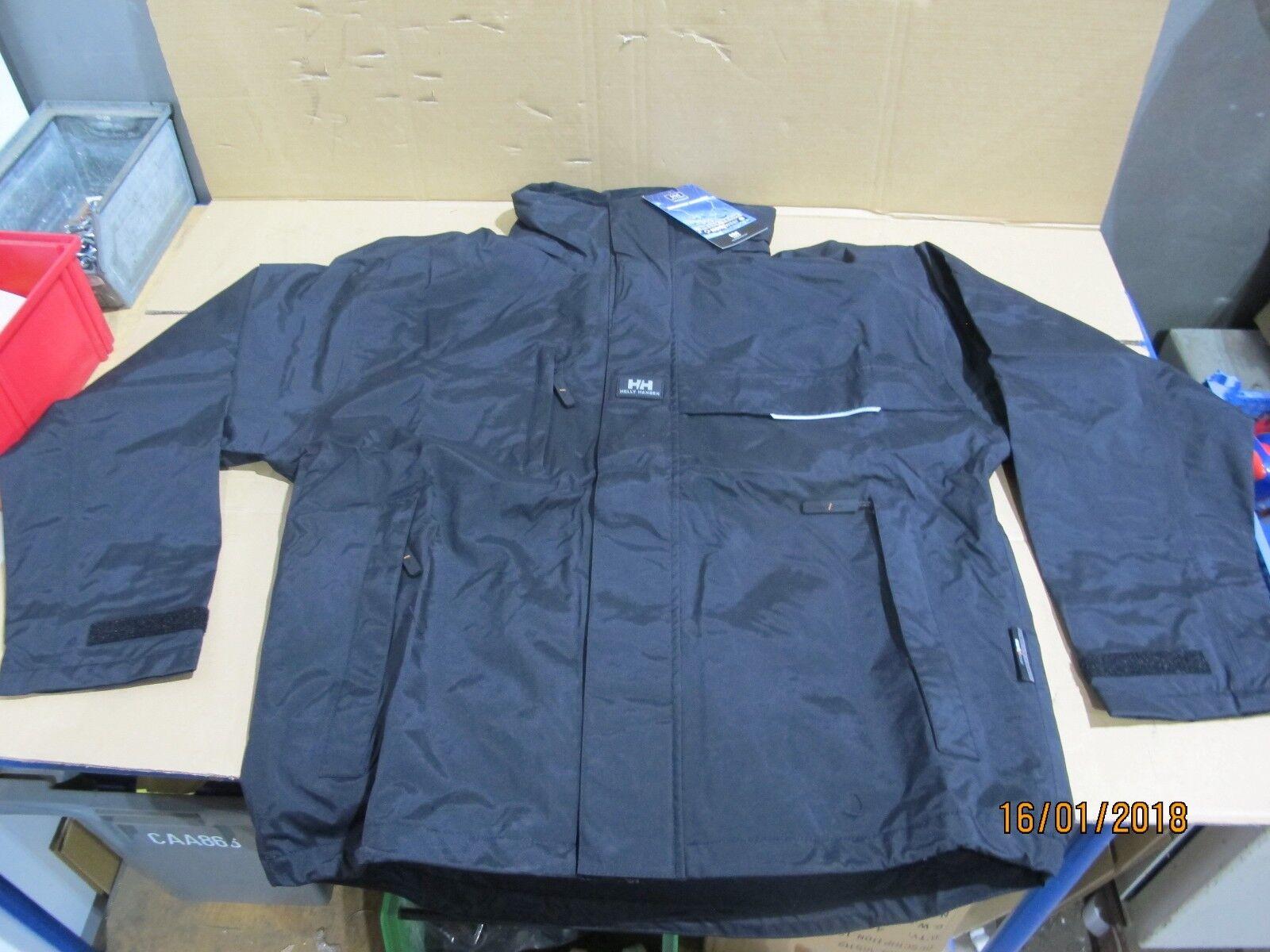 0227  Helly Hansen Regenjacke Regenjacke Regenjacke Regenbekleidung Schwarz 8dcb21