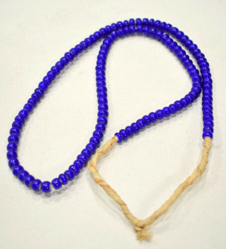 Beads African Blue White Heart Beads 8mm