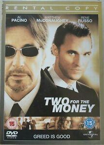 Deux-pour-L-039-Argent-DVD-2005-Sports-Drame-Largeur-Pacino-Mcconaughey-Location