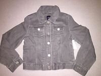 Gap Kids All That Glitters Gray Denim Jacket Size S 6-7 6 7