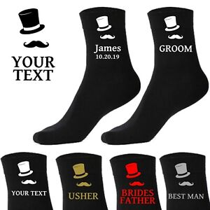 Personalised Mens Wedding Socks Groom Bestman Father Brother Grandad Uncle Son*