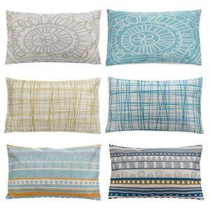 Rectangular Geometric Cotton Linen Throw Pillow Cases